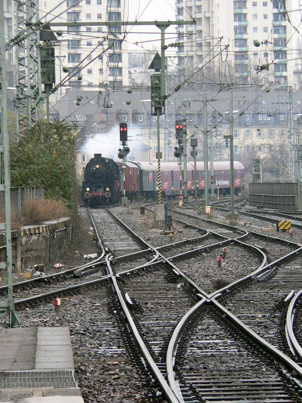 Einfahrt des Zug der Erinnerung