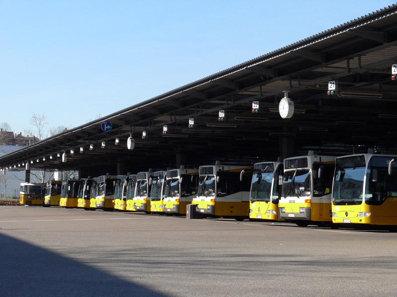 Die Busse bleiben am Betriebshof