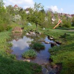 Bachlauf mit Teich