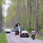 Mit Polizeischutz Richtung Gablenberg
