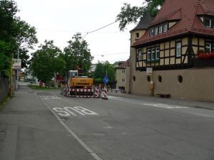 Baustelle Wagenburgstraße