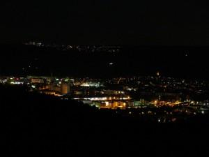 Stuttgarter Hafen bei Nacht