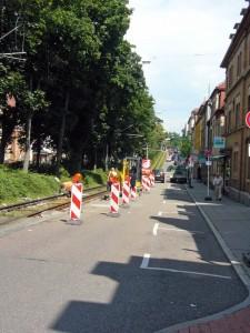 Baustelle in der Ostendstraße