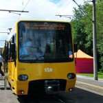 modernisierter Stadtbahnzug 3155/56 von vorne