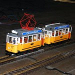 Miniatur-Straßenbahn in der Hauptwerkstatt (zu Gast aus dem  ehemaligen Straßenbahnmuseum)