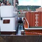 Containerschiff zu besichtigen
