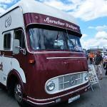 historischen Möbelspeditions-Fahrzeug