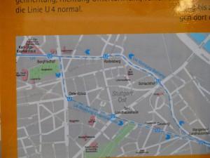 Fahrstreckenplan der SSB an den Haltestellen