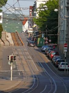 Gleisarbeiten Landhausstraße