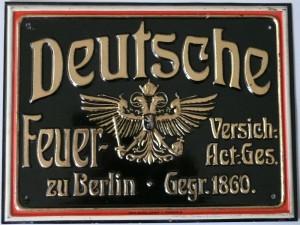 Dieses Schild wurde in den Jahren 1905 bis ca.1913 ausgeben.