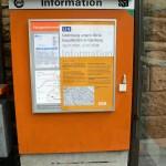 Info am Fahrkartenautomat und