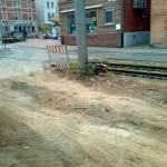 Zufahrt zur Baustelle