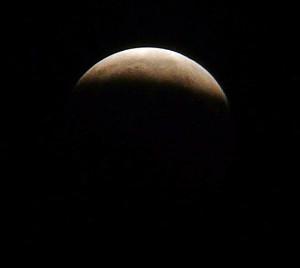 Der Mond hat sich verfinstert