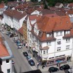 Gablenberger Hauptstraße vom Turm der Petruskirche