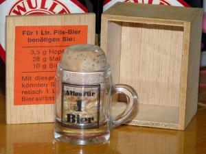 Alles für 1 Bier 3,5g Hopfen, 28g Malz und 10g Bierhefe