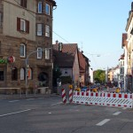 Baustelle Gablenbegrer Hauptstraße