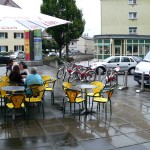 Direkt an der Fahrradleihstation