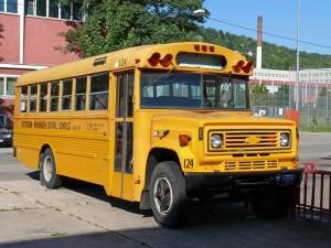US Schulbus / wird wohl dort nicht zu sehen sein
