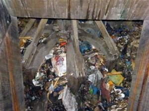 Blick zum Müll