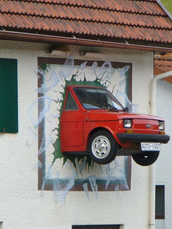 Gablenberger Klaus Blog Blog Archive Mit Dem Fiat Durch Die Wand