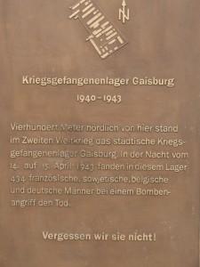 Gedenktafel in Gaisburg Ulmer-, Wagenerstraße