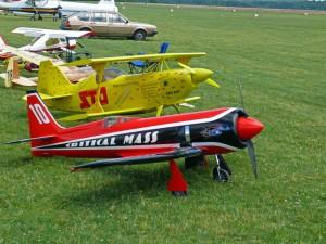 Modellflugzeuge sind auch zu bewundern