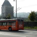Das ES Werbung am Bus