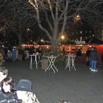 Abendstimmung im finnischen Weihnachtsdorf