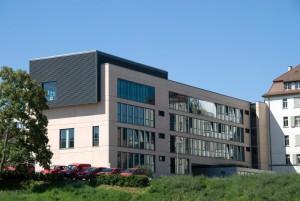 Rückansicht des Bürgerzentrums Stuttgart Ost