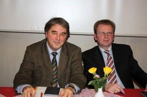 Links der ehemalige Vorsitzende Karl-Christian Hausmann Rechts der neue Vorsitzende Thomas Rudolph