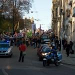 Domonstrationszug in der Silberburgstraße