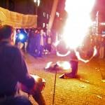 Zum Abschluss eine Feuershow