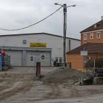 Einst Straßenbahnmuseum jetzt Abbruchgebäude