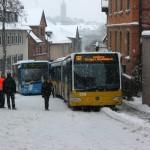 Auch Busfahrer haben es schwer bei dieser Witterung