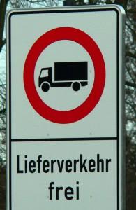 Duchfahrtsverbot für LKWs ab 3,5 t