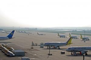 Flugzeugparkplatz Stuttgart Flughafen