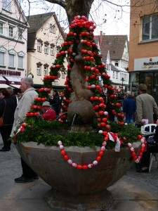 Osterbrunnen in Bad Cannstatt