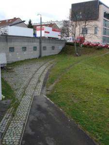 Depot Stuttgart Ost, noch erinnern ein paar Schienen an Straßenbahndepotzeiten