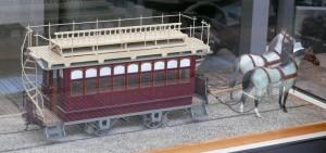 Pferde-Straßenbahn