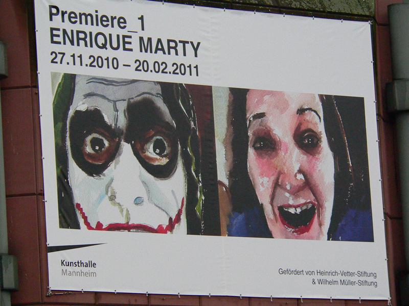 Werke von enrique marty sind in der kunsthalle mannheim ausgestellt