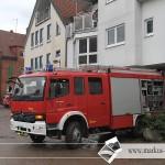 Die Feuerwehr und anderen Helfe im Dauereinsatz