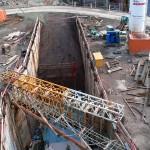 Baustelle neuer Stadtbahntunnel