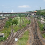 Gleisanlage Untertürkheim beim ehm. Eszet-Gebäude