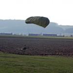 Landung auf dem Acker