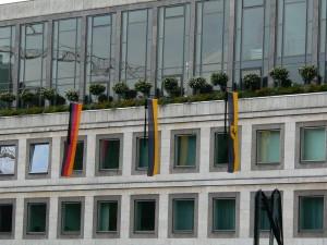 Trauerbeflaggung am Stuttgarter Rathaus