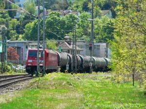 Güterzüge auf der Gäubahn, hier am Westbehnhof