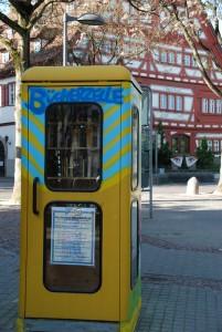 Telefon--Bücherzelle