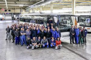 Daimler-Setra-Belegschaft