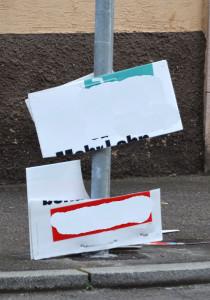 K--Wahlplakate