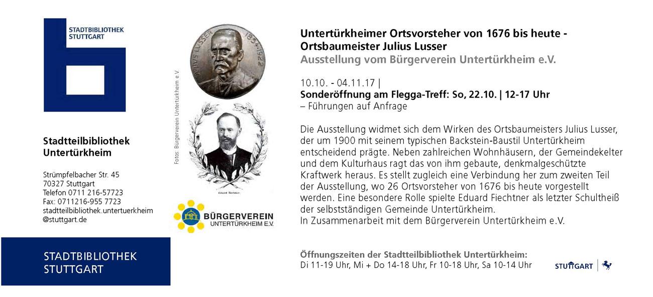 cebf78a1eb3b13 Fleggatreff2017 Bürgerverein-Ausstellung-UN. Untertürkheimer Ortsvorsteher  ...